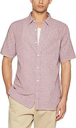 Elwick Stripe Grandad, Camisa Casual para Hombre, Marfil (Ecru Nat), Medium Fat Face