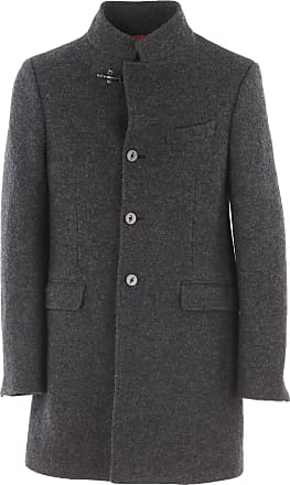 Womens Coat On Sale in Outlet, Grey, polyester, 2017, 12 Fay