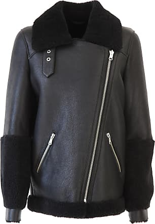 Jacket for Women On Sale, Black, Leather, 2017, 10 Federica Tosi