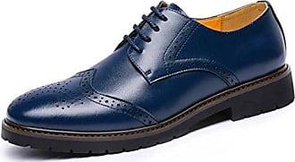 SHOWHOW Herren Spitz Zehe Klassischer Schnürhalbschuh Anzugschuhe Blau 41 EU