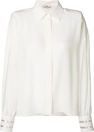 flared blouse - Nude & Neutrals Fendi