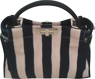gebraucht - Lederhandtasche - Damen - Schwarz - Wildleder Fendi