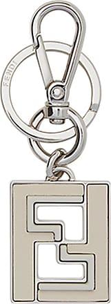 Fendi logo keyring - Metallic