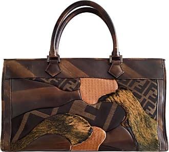 gebraucht - Patchwork Tote Bag - Damen - Bunt / Muster - Leder Fendi