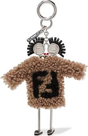 Fendi Logo baseball leather key ring