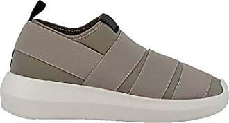 FESSURA Damen Hitwinsgry Braun Stoff Slip on Sneakers