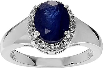 Fine Jewelry Color-Enhanced Blue Sapphire and Genuine White Topaz Sterling Silver Ring