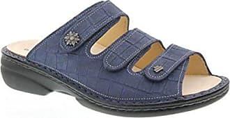Finn Comfort Menorca-S, Oldbrass (Nubukleder), Blue, Pantolette 82564-477241 Größe: 43