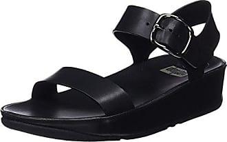 551/093, Sandales Femme - Noir - Noir (Black), 39FitFlop