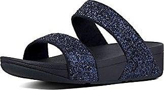 Fitflop Glitterball Slide, Sandalias con Plataforma para Mujer, Azul (Midnight Navy), 37 EU FitFlop