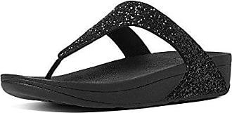 FitFlop Damen Glitterball Slide Offene Sandalen mit Keilabsatz, Blau (Midnight Navy 399), 40 EU