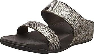 Fitflop Neoflex Slide Sandals, Sandali Punta Aperta Donna, Multicolour (Soft Grey/Silver 579), 40 EU