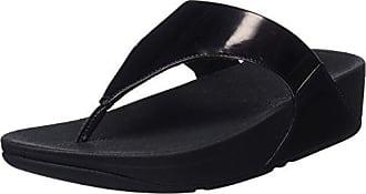 Fitflop Lulu Toe-Thong Sandals-Shimmer-Check, Sandalias para Mujer, Gris (Stone 31), 40 EU