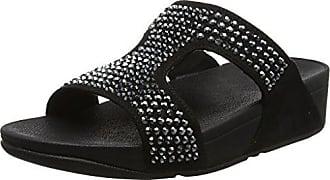 FitFlop Damen Flare Strobe Slide Sandals Peeptoe