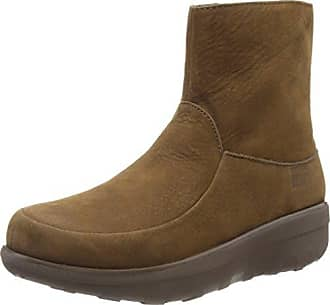 FitFlop Damen Loaff Lace-up Ankle Boot Shearling Chukka, Beige (Desert Stone), 36.5 EU