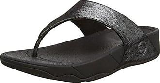 Glitterosa, Sandales Bout Ouvert Femme - Black (All Black), 42 EUFitFlop