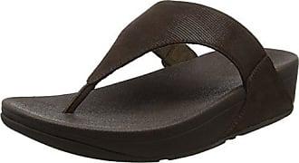 Fitflop Lulu Toe Thong Sandals, Sandalias con Punta Abierta para Mujer, Plateado (Silver Shimmer-Print 578), 38 EU
