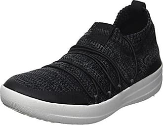 FitFlop Damen Uberknit Slip-on High Top Sneaker Hohe Hausschuhe, Schwarz (Black 001), 41 EU