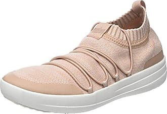 Uberknit Slip-ON Ghillie Sneakers, Zapatillas Altas para Mujer, Multicolour (Neon Blush/Urban White), 42 EU FitFlop