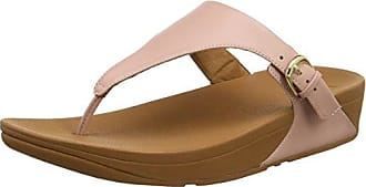 FitFlop Tia Toe-Thong Leather, Sandales Bout Ouvert Femme, Or (Pale Gold 308), 39 EU