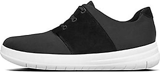 Fitflop Uberknit Slip-On Sneakers, Zapatillas Altas para Mujer, Multicolour (Charcoal/Metallic Pewter), 38.5 EU