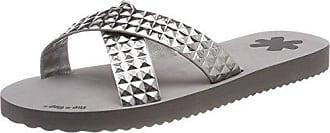 flip flop Damen Crossglam Sandalen, Grau (Light Grey), 36 EU