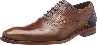 Floris Van Bommel 19114, Zapatos de Cordones Oxford para Hombre, Verde (Olive 04), 41 EU