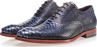 NEU Blauer, gemusterter Schnürschuh aus Kalbsleder, Business Schuhe, Handgefertigt Floris Van Bommel