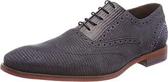 Geox U Damocle B, Zapatos de Cordones Brogue para Hombre, Gris (Dk Grey), 44 EU