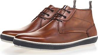 NEU Cognacfarbener Schnürstiefel aus Kalbsleder, Sneaker, Boots, Lederstiefel, Handgefertigt Floris Van Bommel