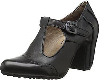 Pump, Sandales Compensées Femme, Noir (Black/Black 072), 36 EUFLY London