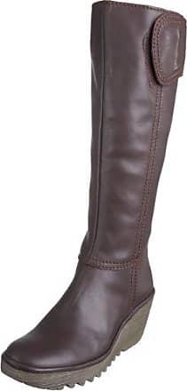 JHAY - Botas de Piel para mujer Negro negro 40, color Marrón, talla 41