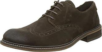 Fly London Hoco817fly, Zapatos de Cordones Brogue para Hombre, Verde (Militar), 44 EU