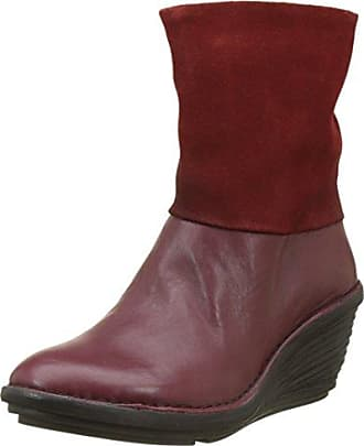 Fly London 2, Bottes Hauts Femme, Rouge (Red 001), 40 EU