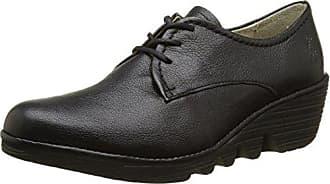 Berg823fly, Zapatillas para Mujer, Negro (Black/Blackred Laces), 38 EU FLY London