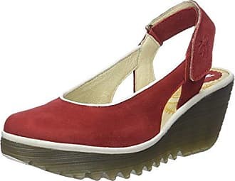 Fly London Yisk837fly, Sandales Bride Cheville Femme, Rouge (Lipstick Red White Sole), 39 EU