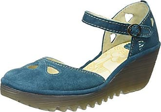 Fly London Titu939, Escarpins Femme, Bleu (Blue 004), 40 EU