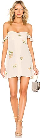 Carla Mini Dress in Cream. - size L (also in M,S,XS) Flynn Skye