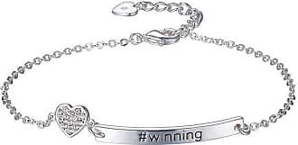 Footnotes Footnotes She Rocks Womens 7 1/4 Inch Clear Silver Over Brass Chain Bracelet