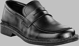 Wexford Herren Klassische Halbschuhe Naturleder, Schwarz, Größe 40 mit mittlerem Fußbett Footprints