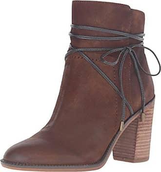 Franco Sarto Frauen Edaline Geschlossener Zeh Leder Fashion Stiefel Braun Groesse 11 US/42 EU