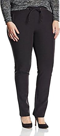 Womens Lange Hose Mit Schmales Bein Materialmix Trousers Frapp