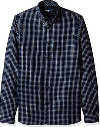 Fred Perry FP Three-Colour Basketweave, Chemise Sport Homme, (Medieval Blue), Small