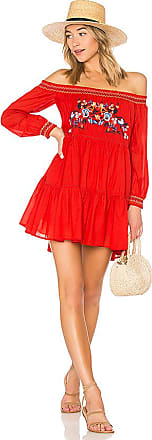 Sunbeams Mini Dress in Red. - size M (also in L,S,XS) Free People