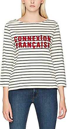 French Connection Tim Stripe, Maglia a Maniche Lunghe para Mujer, Orange (Copprcoin/Utltyblue), 38