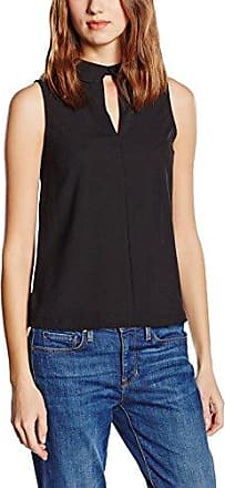 French Connection Crepe Light S/LSS V NK Top, Blusa para Mujer, Negro (Black 1), 36(Tamaño Fabricante: X-Small)
