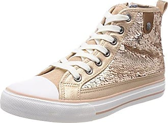 Fritzi aus Preußen Damen Hanna Toe Cap Sneaker Sequin Hohe, Elfenbein (Offwhite), 39 EU
