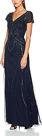 Blythe Embellished Sequin Maxi Dress, Robe Femme, Bleu (Navy 000080), 40Frock and Frill
