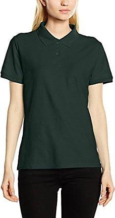 Fruit of the Loom Polo à manches courtes en coton piqué pour homme vert Bottle Green xx-large