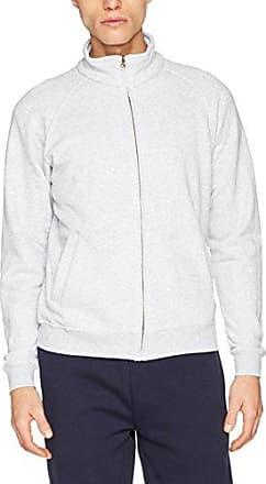 Sweat Jacket, Veste de Sport Homme, Grau (Heather Grey 123), LFruit Of The Loom